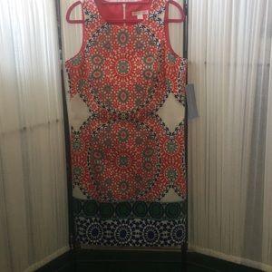 NWT London Times Sleeveless Shift Dress